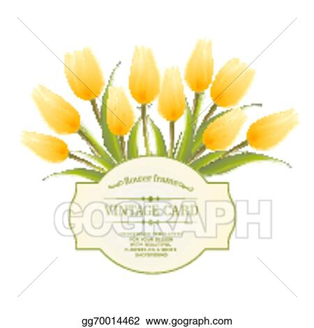 Vector art spring flowers bouquet for vintage card clipart spring flowers bouquet for vintage card mightylinksfo