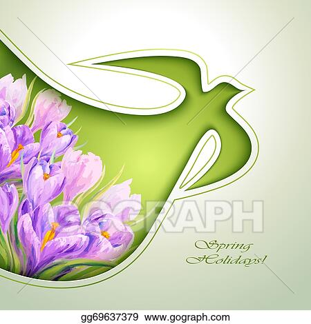 Eps vector spring flowers invitation template stock clipart spring flowers invitation template mightylinksfo