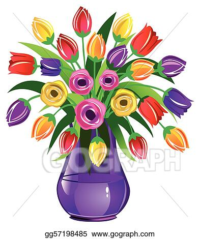 Vector Clipart Spring Flowers Vector Illustration Gg57198485