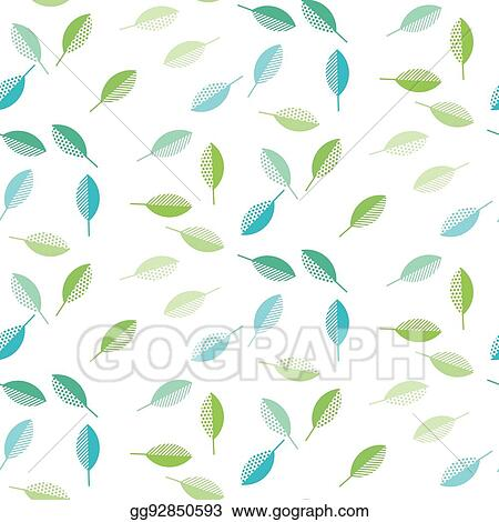 Vector Illustration - Spring green leaves abstract vector ...