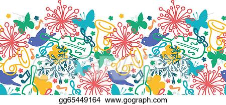 Music spring. Eps vector symphony horizontal