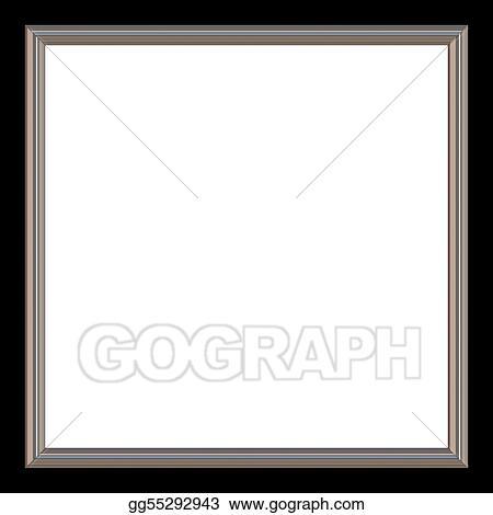 Stock Illustration - Square frame. Clip Art gg55292943 - GoGraph
