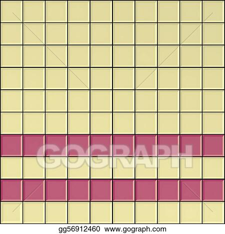Square Ivory White And Pink Bathroom Tiles