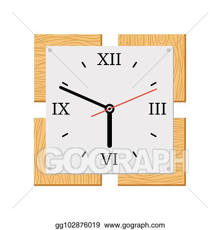Modern Wall Clock Clip Art