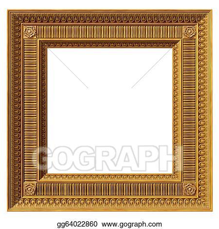 Stock Illustration - Square neoclassical frame. Clipart gg64022860 ...