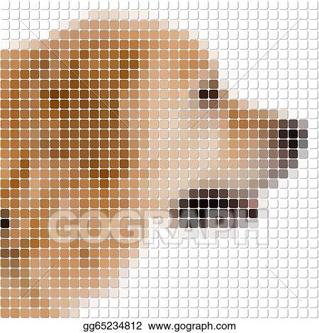 Stock Illustration Square Rounded Pixels Image Of Dog Clipart