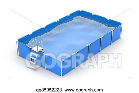 Clipart - Square swimming pool. Stock Illustration ...