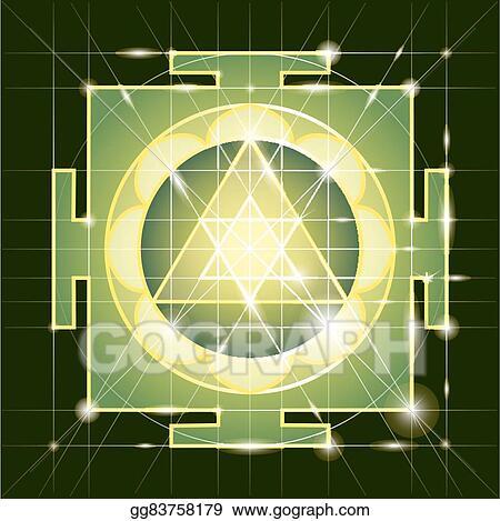 Clip Art Vector - Sree ganapati yantra  sacred geometry