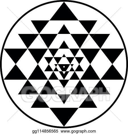 Vector Illustration - Sriyantra shakti hold support geometry