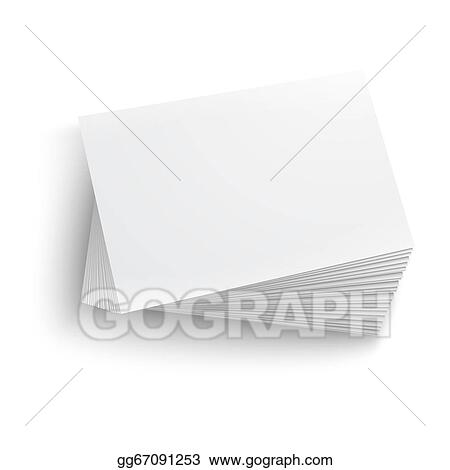 Vector illustration stack of blank business card stock clip art stack of blank business card colourmoves