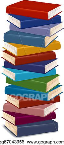 Vector Stock - Stack of colorful books. vector. Clipart Illustration ...