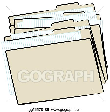 drawings stack of file folders stock illustration gg56578186
