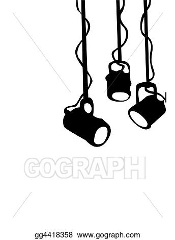 clipart stage lights stock illustration gg4418358 gograph rh gograph com Stage Lights Clip Art Black and White Stage Lights Background