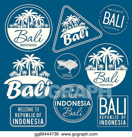 Vector Art Stamp Or Label With The Name Of Bali Island Vector