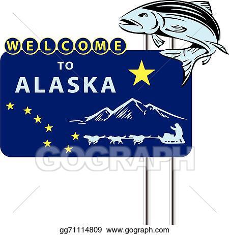vector stock stand welcome to alaska clipart illustration rh gograph com clipart alaska flag alaska clip art free