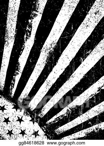 2a5186e36eeb Monochrome Negative Photocopy American Flag Background. Grunge Aged  VectorTemplate. Vertical orientation.