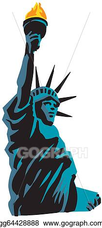 vector illustration statue of liberty in vector stock clip art rh gograph com statue of liberty clipart black and white clipart of lady liberty