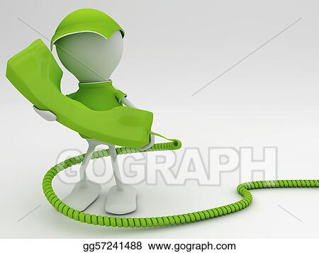 Clip Art - Stay connected  telecom concept 3d render in