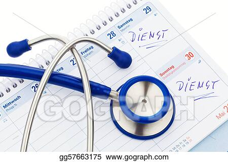 stock photo stethoscope and calendar medical appointment stock