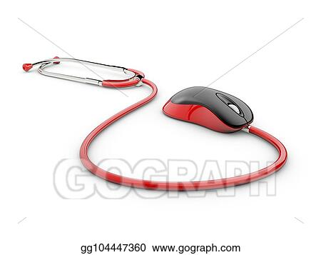 8bf37d790ec Stock Illustration - Stethoscope computer mouse medical online ...