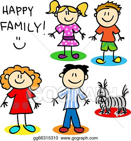 vector stock stick figure family clipart illustration gg66315310 rh gograph com Create Stick Figure Clip Art Stick Figure People Clip Art