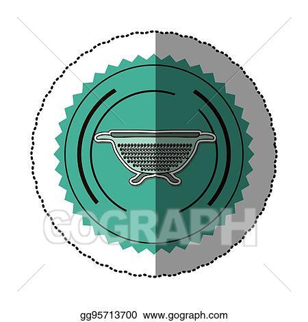 Sticker Color Round Frame With Kitchen Drainer