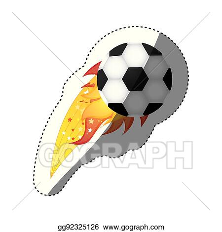 clip art vector sticker colorful olympic flame with soccer ball rh gograph com Olympic Wreath Clip Art Olympic Wreath Clip Art