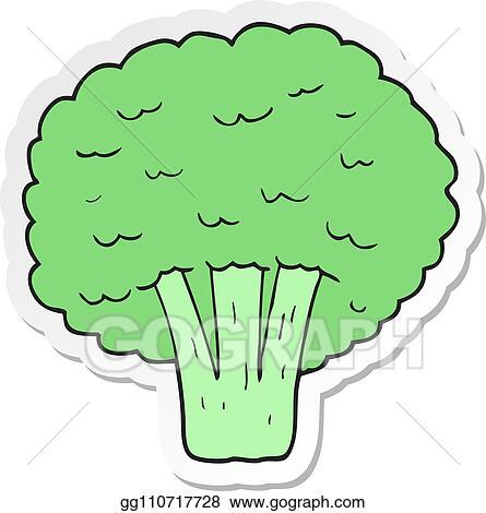 vector clipart sticker of a cartoon broccoli vector illustration gg110717728 gograph gograph