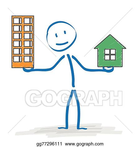 Stickman House Or Apartment