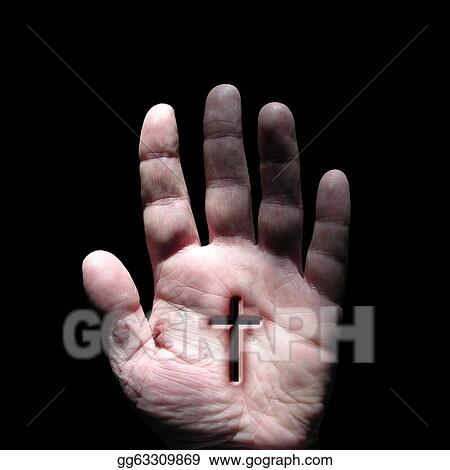 Stock Photograph Stigmata Cross Religion Faith Jesus