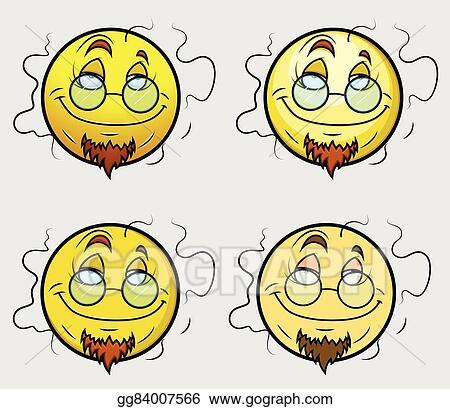 Vector Art Stinky Professor Emoji Smiley Eps Clipart Gg84007566