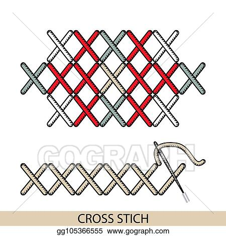 Eps Vector Stitches Cross Stich Type Vector Collection Of Thread