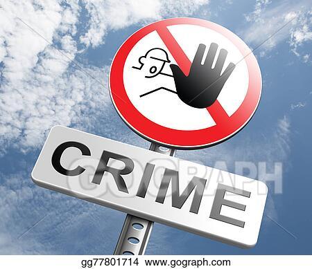 stock illustration stop crime sign clip art gg77801714. Black Bedroom Furniture Sets. Home Design Ideas