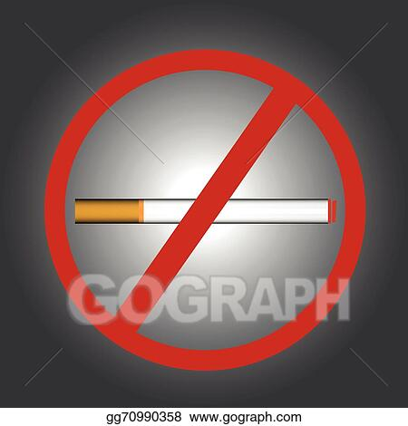 Vector Art Stop Smoking Symbol Clipart Drawing Gg70990358 Gograph