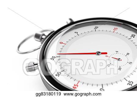 stock illustration stopwatch less than one minute clipart