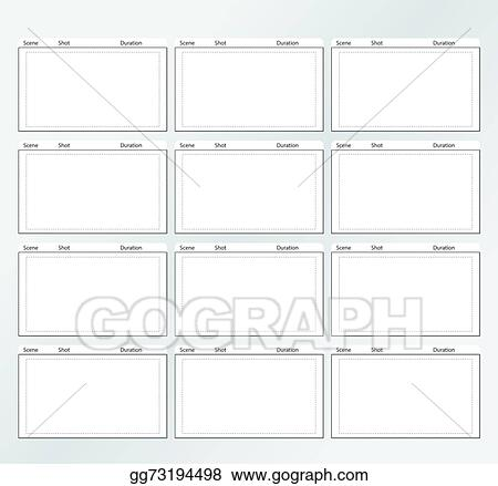 Vector illustration storyboard template vertical x12 stock clip storyboard template vertical x12 maxwellsz