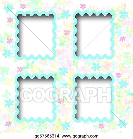 Stock Illustrations Storybook Scrapbook Page Stock Clipart