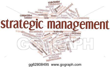 Stock Illustration - Strategic management  Clipart