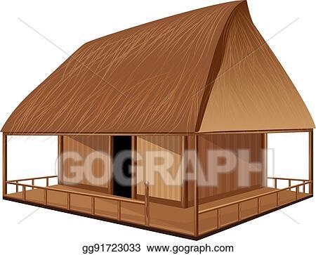 Eps Vector Straw Roof Hut Vector Design Stock Clipart Illustration Gg91723033 Gograph