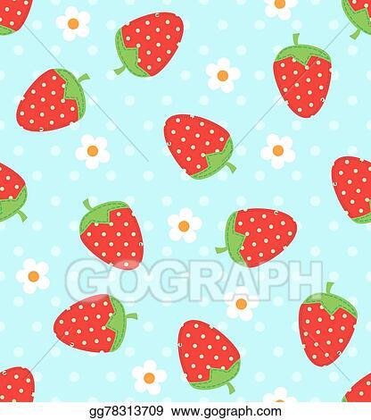EPS Illustration Strawberry Pattern Vector Clipart Gg40 Enchanting Strawberry Pattern