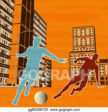 Two Boys Playing Football Illustration Royalty Free Cliparts, Vectors, And  Stock Illustration. Image 64321804.