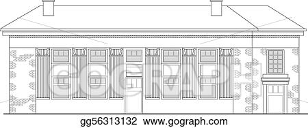 stock illustrations strip mall or shopping center building viewed from front elevation on white background stock clipart gg56313132 gograph https www gograph com clipart license summary gg56313132