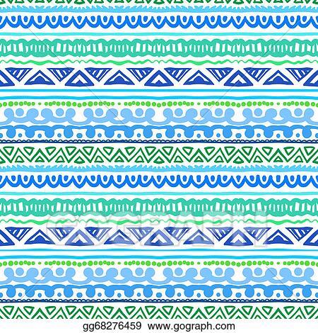 Blue Aztec Design Clip Art