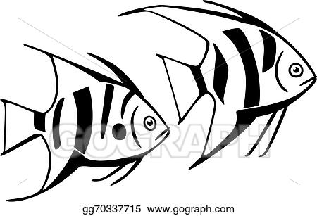 Line Art Of Fish : Vector clipart striped fish. illustration gg70337715 gograph