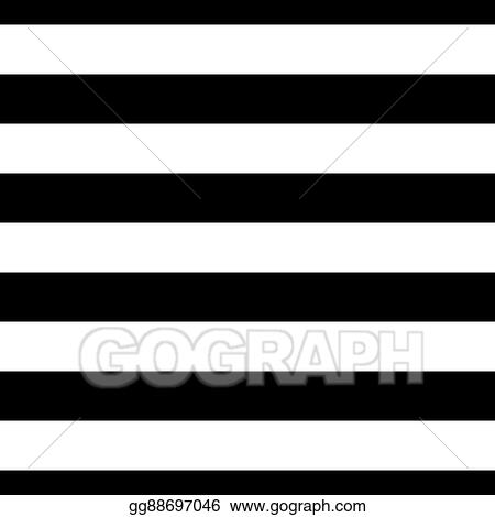 Stock Illustration - Striped seamless pattern black white wide. Clip ...