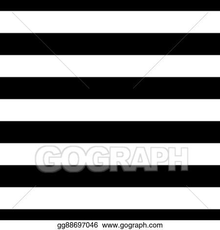 Striped Seamless Pattern Black White Wide