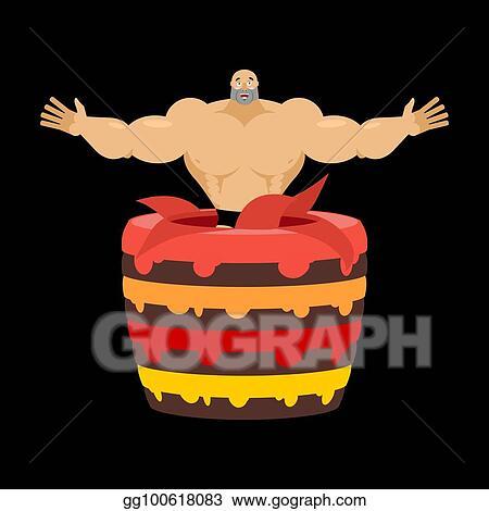 Admirable Eps Vector Stripper From Cake Congratulation Pretty Boy Vector Funny Birthday Cards Online Elaedamsfinfo