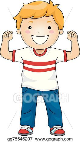 vector stock strong boy clipart illustration gg75546207 gograph rh gograph com strong clip trouser hangar strong clips for ear ring making