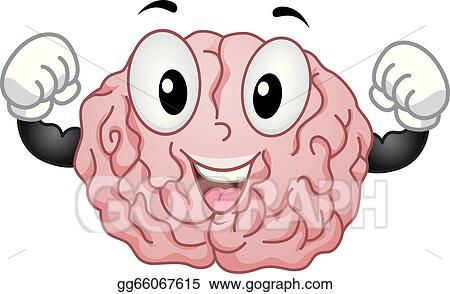 vector illustration strong brain mascot eps clipart gg66067615 gograph strong brain mascot eps clipart