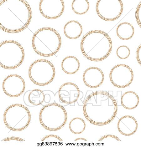 EPS Illustration - Stylized copper wire circles. Vector Clipart ...